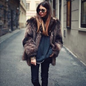Sold! Dark Brown Faux Fur Coat from H&M